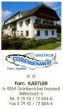 Gasthof Forellenwirt - Fam. Kastler