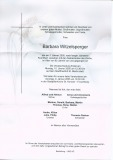 Witzelsperger, Barbara - Gestorben