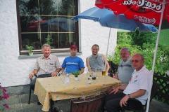 Familientreffen Grünbach 2003 - Franz, Curt, Zdenko Jr, Zdenko Sr., and Rudolf Kastler