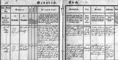Franz Kastl 1862 - Taufbuch Buchers