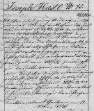 Joseph Kastl 1846 Property Record