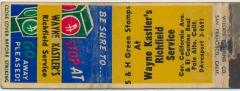 Wayne Kastler's Richfield Service Matchbook