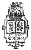 Bookplate - Dr. Franz Kastler