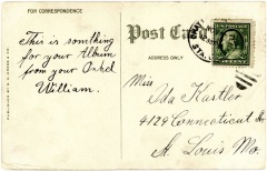 Ida Kastler Post Card - Circa 1908 - Back