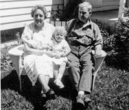 Faye with Grandparents