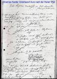 Johannes Kastler Gütertausch kurz nach der Heirat 1762