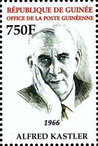 Alfred Kastler postage stamp.