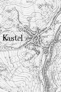 Older map showing the town where it's believed the Saarland Kastlers (Kastelers) originated. South-east of Trier, near Wadern.